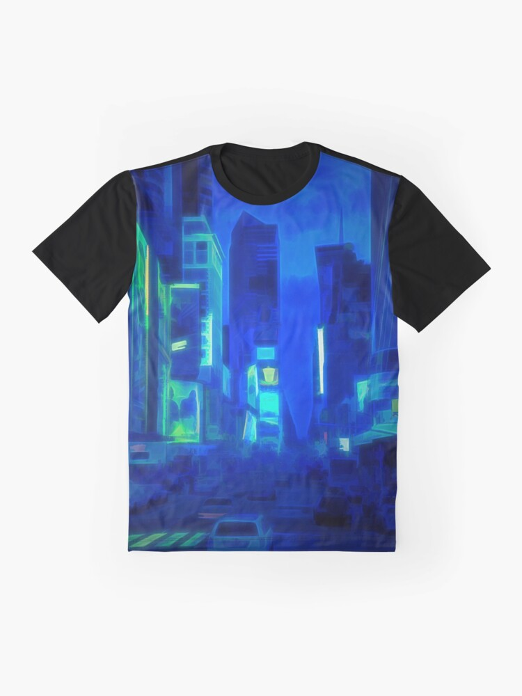 Alternate view of Times Square Broadway (colour paint & glow) Graphic T-Shirt