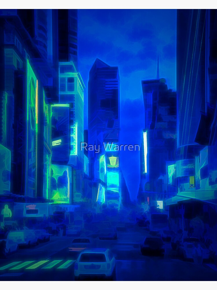 Times Square Broadway (colour paint & glow) by RayW