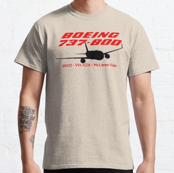 Boeing 737-800 39372 VH-XZH (Black Print) Classic T-Shirt