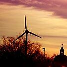 Of Sunrises And Wind Turbines by Alex L
