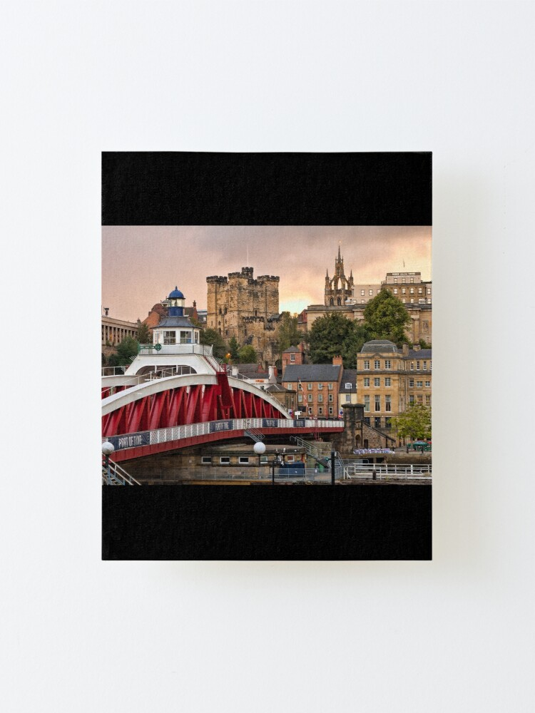 Alternate view of Swing Bridge and Castle Keep, Newcastle, Tyne and Wear Mounted Print