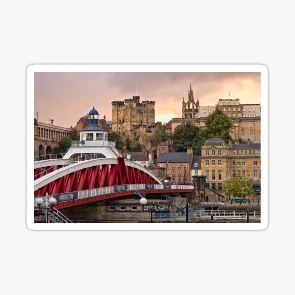 Swing Bridge and Castle Keep, Newcastle, Tyne and Wear Sticker