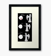 boo vs Weeping angel ! don't blink! Framed Print