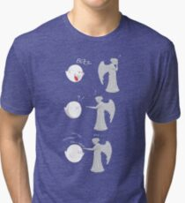 boo vs Weeping angel ! don't blink! Tri-blend T-Shirt