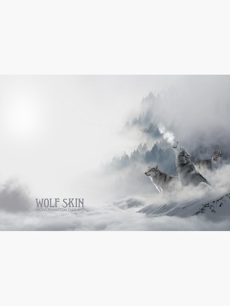 Snowscape Wolves Hardcover Journal by danbadgeruk