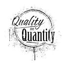 QUALITY OVER QUANTITY BLACK by Lewis-T-Evans