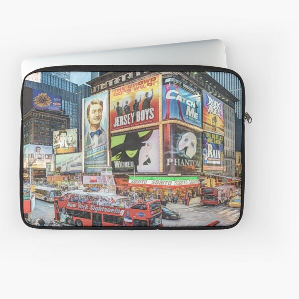 Times Square III (colour pen & ink) Laptop Sleeve
