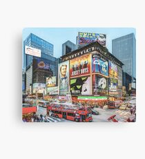 Times Square III (colour pen & ink) Canvas Print