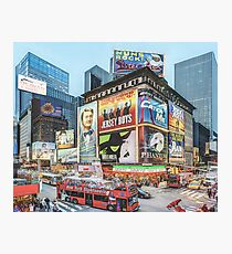 Times Square III (colour pen & ink) Photographic Print