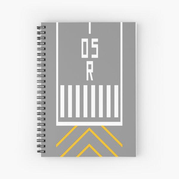 Threshold RWY 05R Spiral Notebook