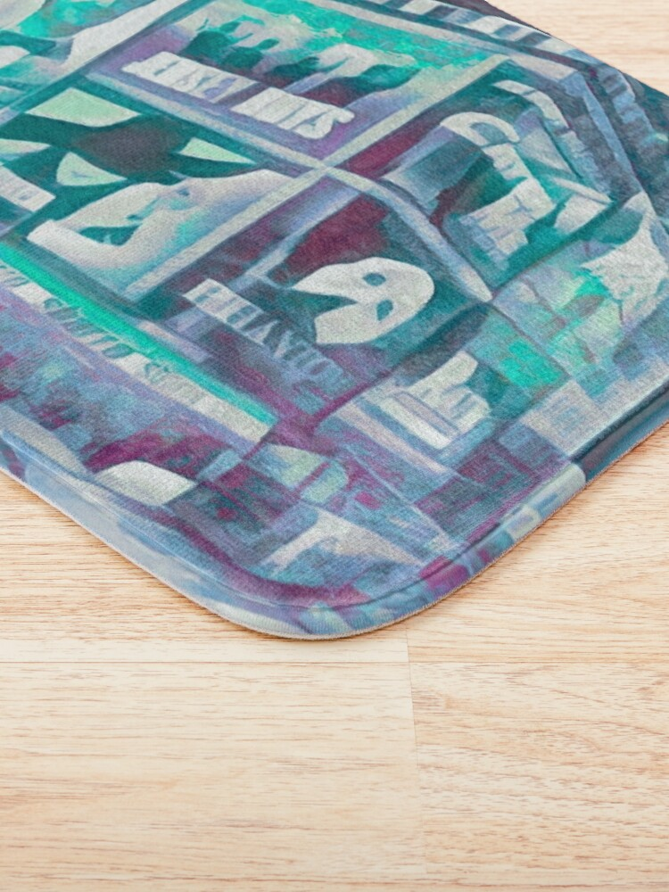 Alternate view of Times Square III (tricolour block abstract) Bath Mat