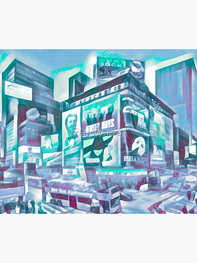 Times Square III (tricolour block abstract) by RayW
