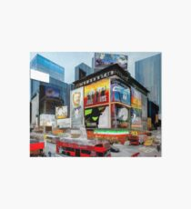 Times Square III (pastel pen & ink) Art Board Print