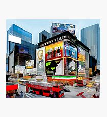 Times Square III (pastel pen & ink) Photographic Print