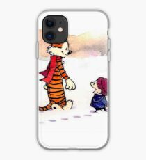 calvin and hobbes funny forest iphone case