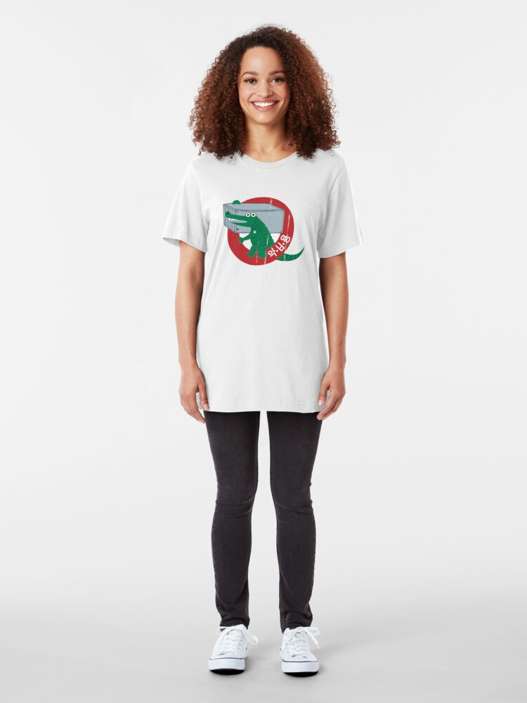 Alternate view of Croc Shipping Containers Slim Fit T-Shirt