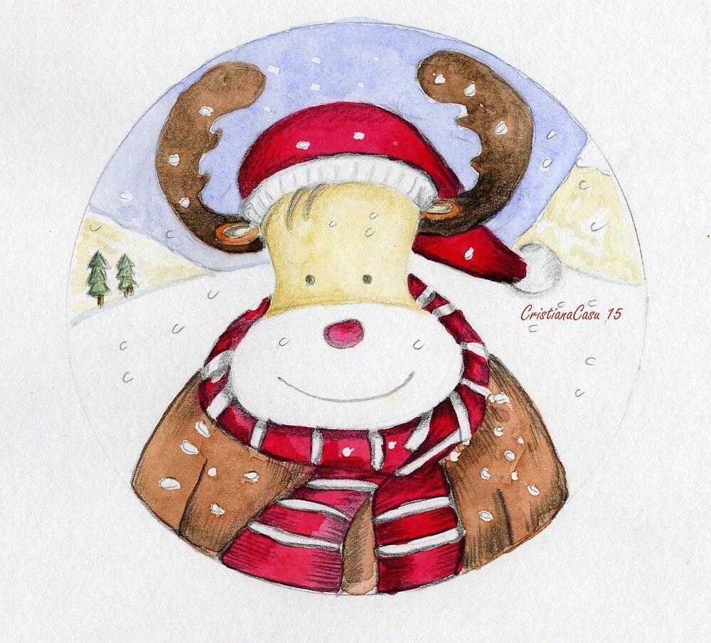 Renna di Natale by CristianaCasu