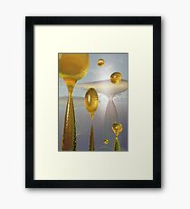 Golden Globs Framed Print