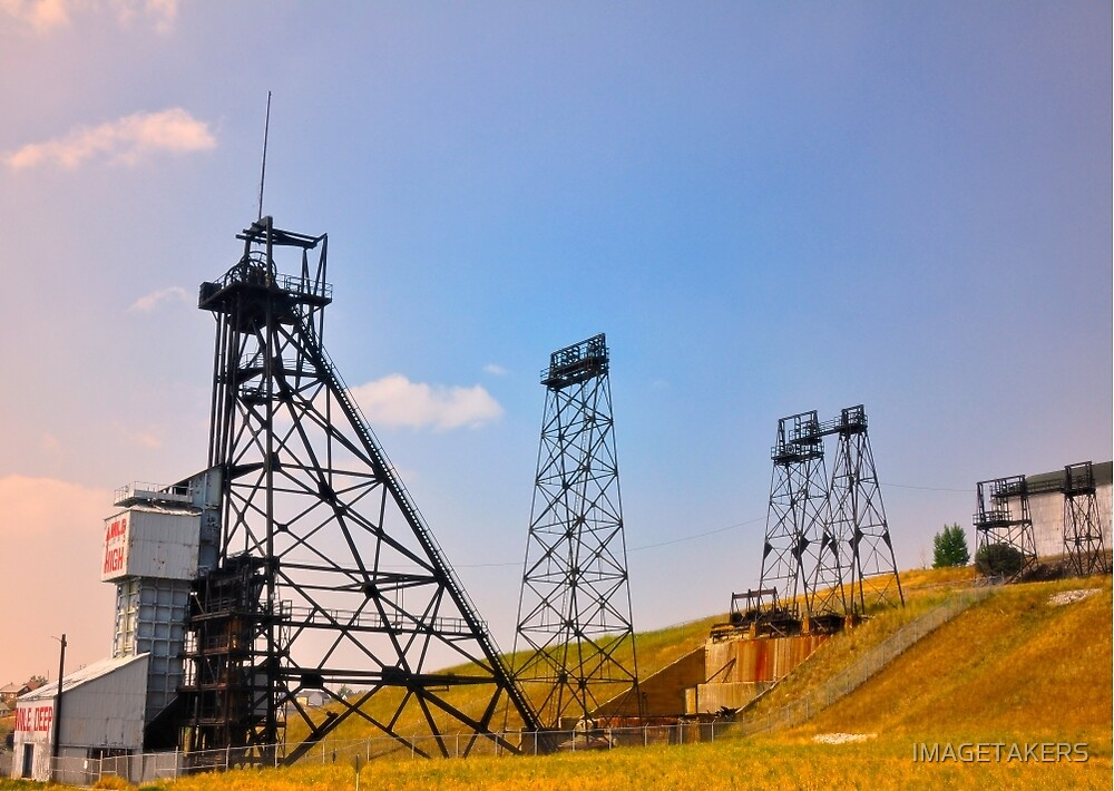 Butte Montana Headframe - Mining Heritage by IMAGETAKERS