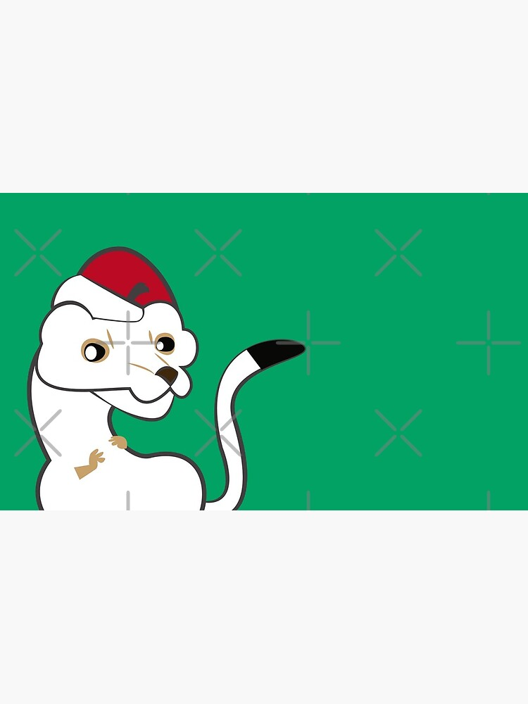 Elf Stoat Xmas Green de belettelepink