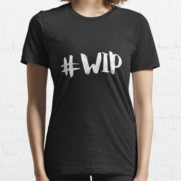 #WIP (white on black) Essential T-Shirt