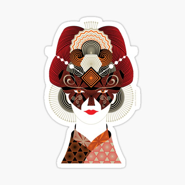 Madame Batterfly 4 Japan Collection by © 2019 Balbusso Twins Sticker