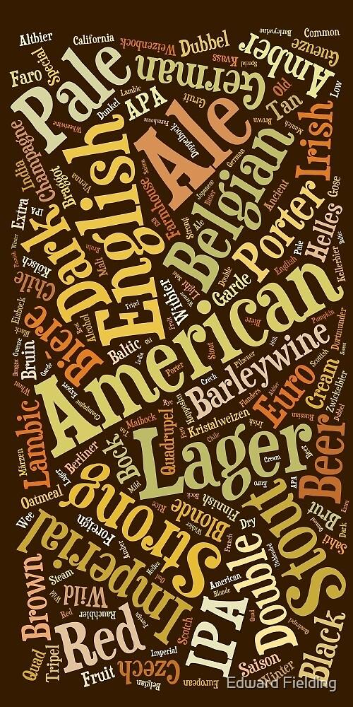 Beer Lovers Word Cloud  by Edward Fielding