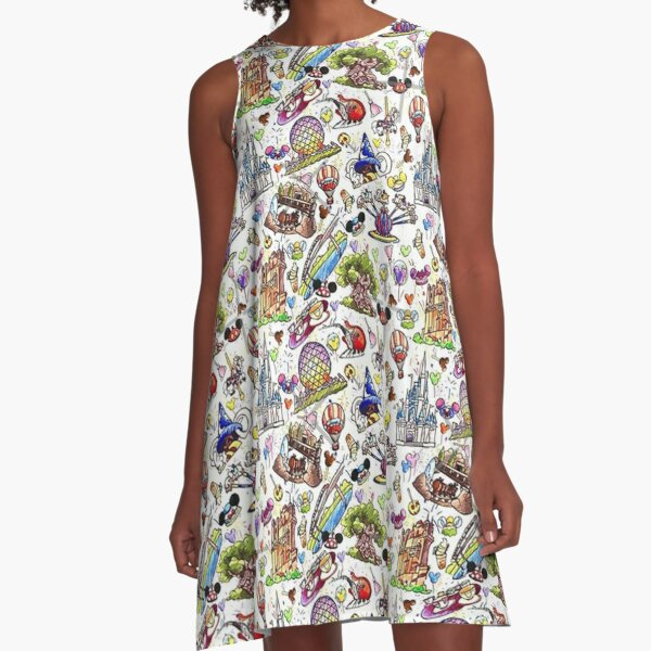 full action A-Line Dress