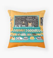 The Halloween Bakery Throw Pillow