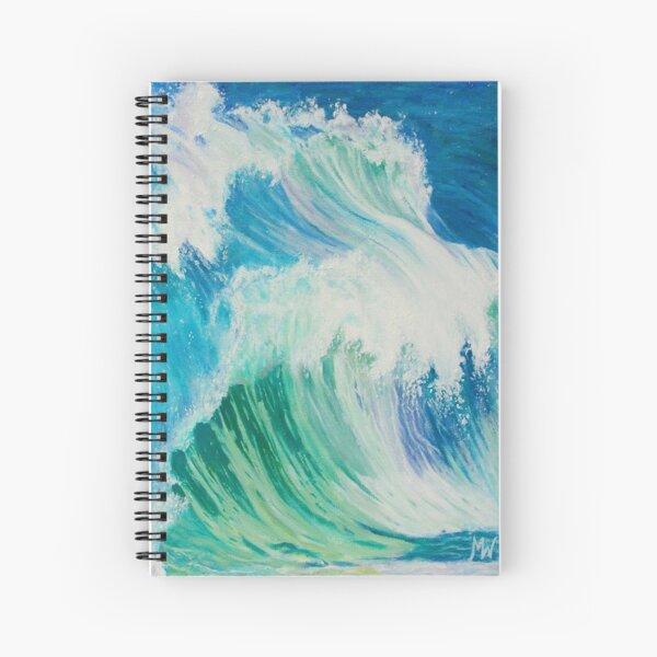 Dancing Waves Spiral Notebook