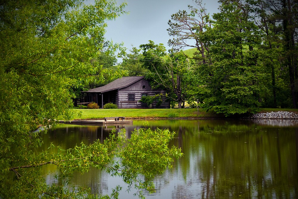 Cabin by the Pond by Jeanne Sheridan