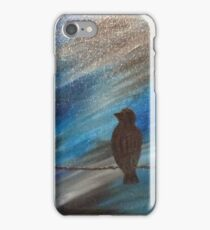 bird on a wire blue iPhone Case/Skin