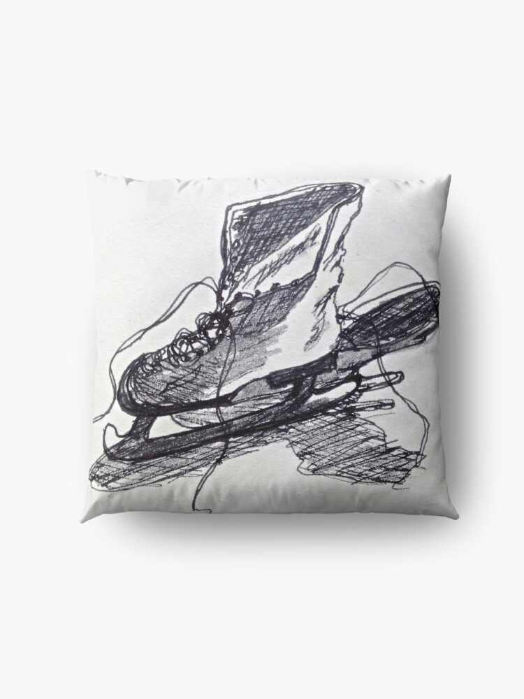 Alternate view of Nancy's Skates Floor Pillow