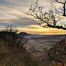 Sunset, trees, and mountains. Winter in France by opheliaautumn