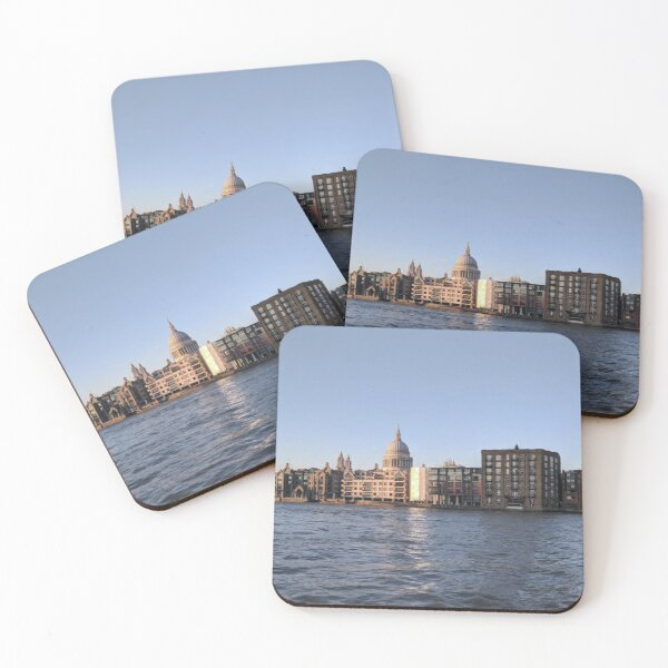 London from the Thames - panorama Coasters (Set of 4)
