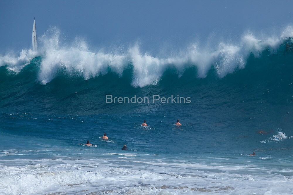 Braving the Mighty Wave by Brendon Perkins