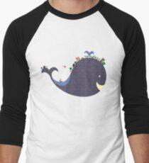 whale Men's Baseball ¾ T-Shirt