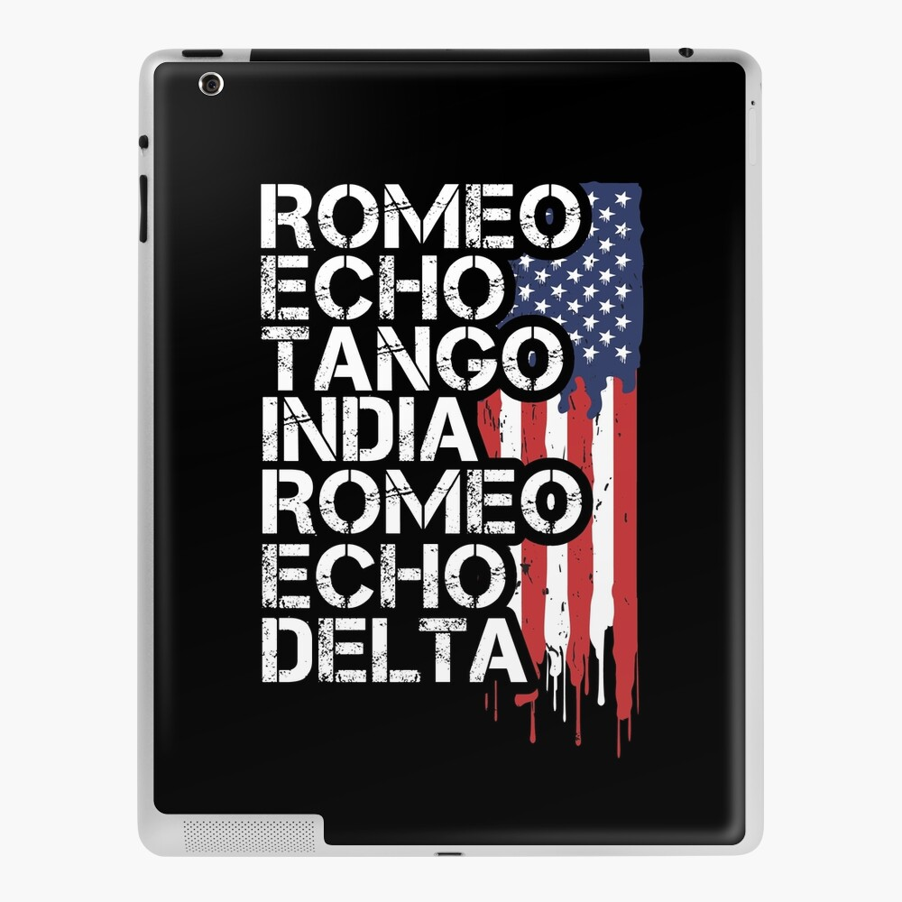 Retired First Responders Retirement Gift Military Police Fire Nurse Ems Dispatch Corrections Phonetic Alphabet American Flag Ipad Case Skin By Suckerhug Redbubble