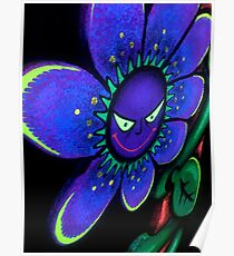 Evil Glowing Flower Poster