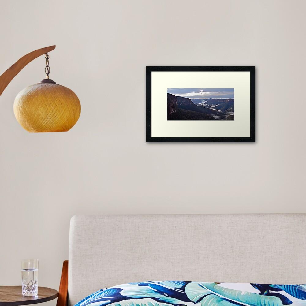 Govetts Leap Lookout. Framed Art Print