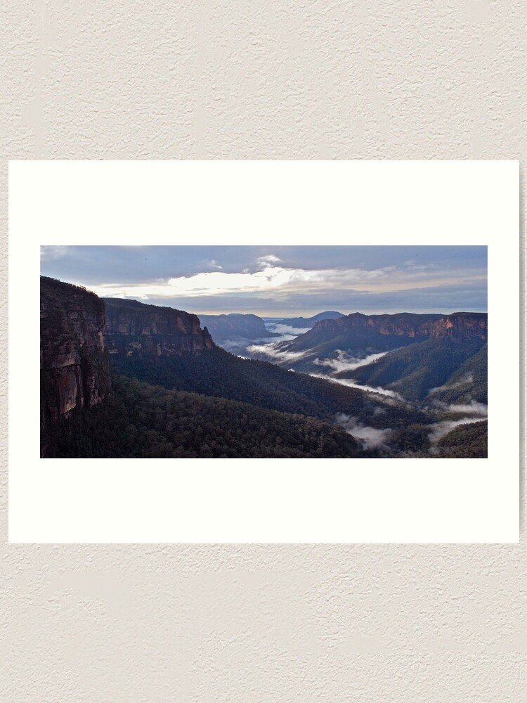 Alternate view of Govetts Leap Lookout. Art Print