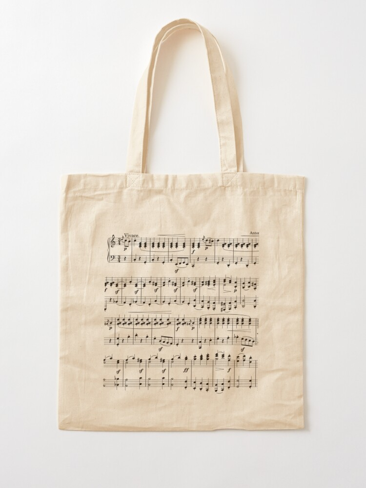 Alternate view of Sheet Music Tote Bag