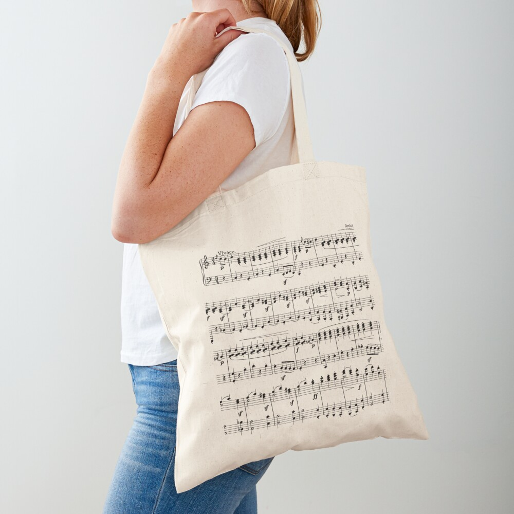 Sheet Music Tote Bag