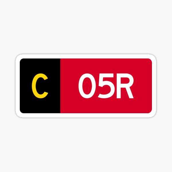 Holding Point Sign C 05R Sticker