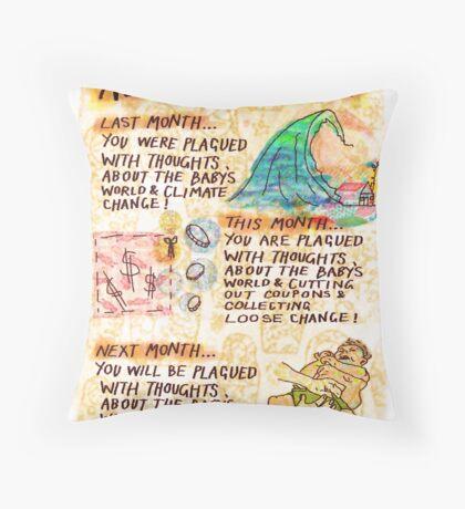 Pregnancy: Nesting Forecast Throw Pillow