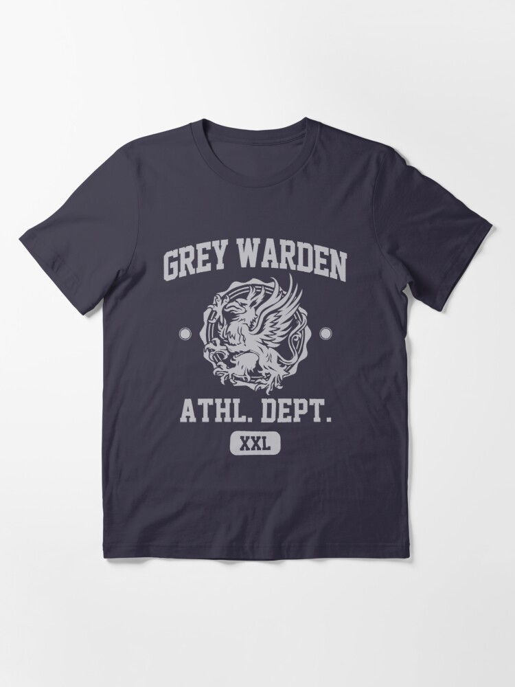 Alternate view of Grey Warden Athletic Department | Dragon Age Gym Shirt Style | Silver Print Essential T-Shirt