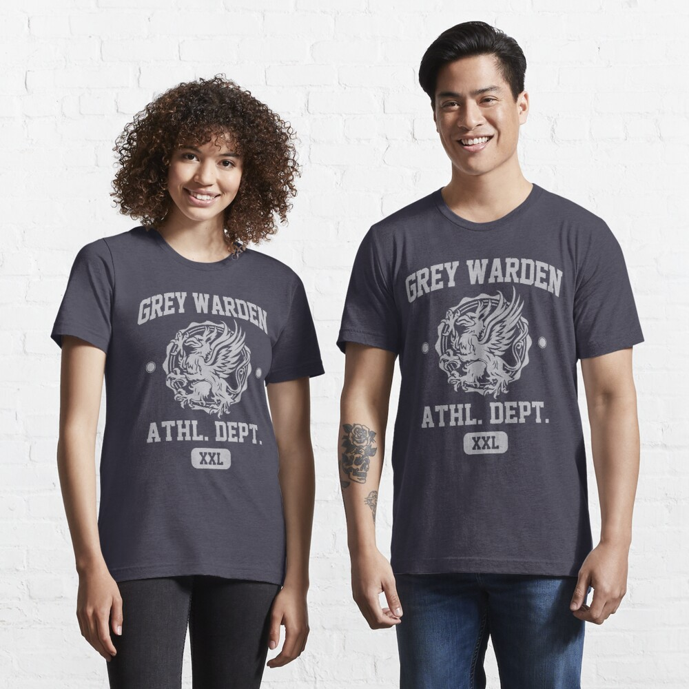 Grey Warden Athletic Department | Dragon Age Gym Shirt Style | Silver Print Essential T-Shirt