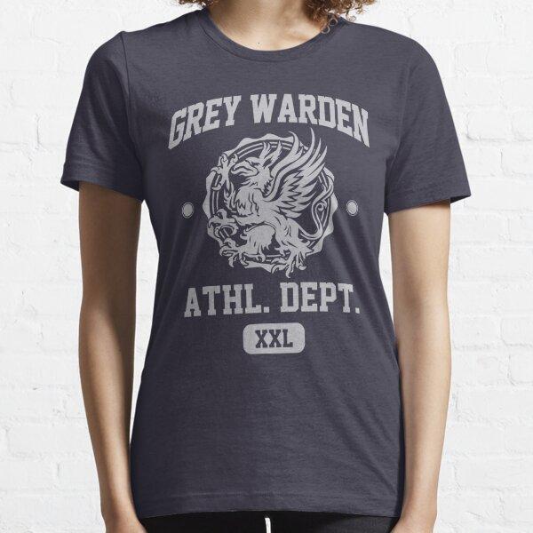 Grey Warden Athletic Department | Dragon Age Gym Shirt Style | Silver Print Essential T-Shirt