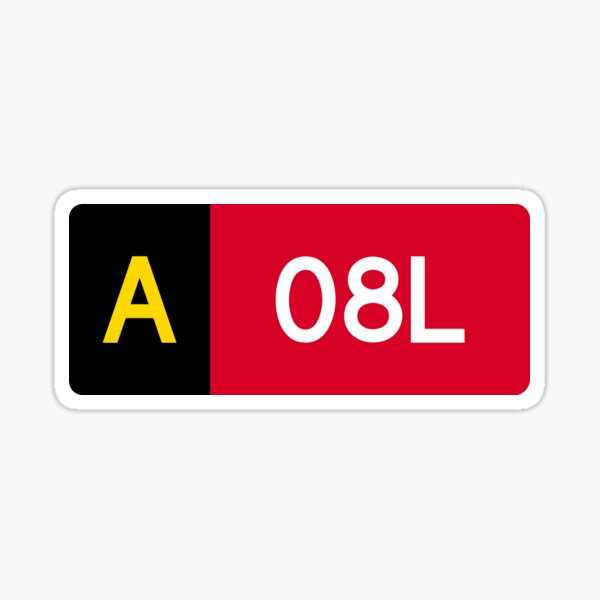 Holding Point Sign A 08L Sticker