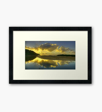 Magic - Narrabeen Lakes Entrance, Sydney - The HDR Experience Framed Print